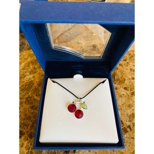 Swarovski Cherry Pendant Necklace
